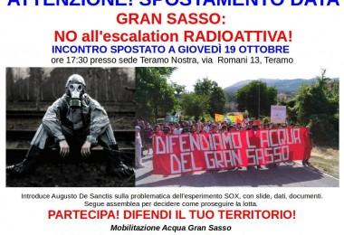 Gran Sasso, no all'escalation radioattiva!