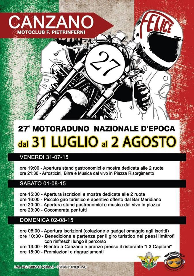Motoraduno Nazionale d'Epoca Motoclub F. Pietrinferni
