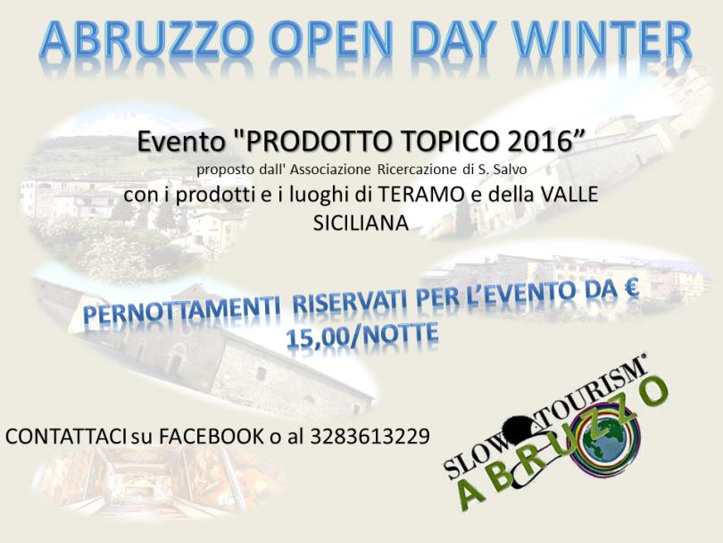 abruzzo open day winter prodotto topico 2016 presentazione