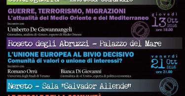 Emergenze mediterranee locandina incontri