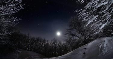 Ciaspolata in notturna al canyon della Reva